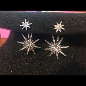 Jewelry - 5 for $15 Starburst ear jacket earrings